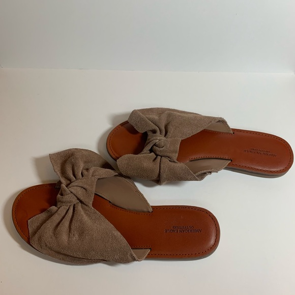8e5c48059 American Eagle Outfitters Shoes | Aeo Bow Slide Sandals | Poshmark